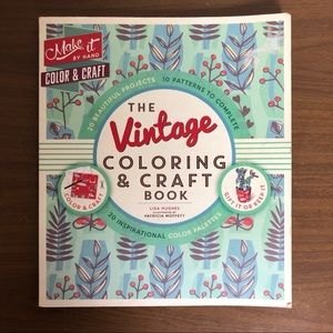 Other - Adult Craft Colouring Book Mid Century Retro